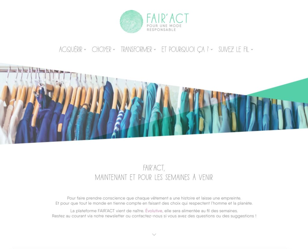 fairact.org | co-fondateur de l'association FAIR'ACT | graphisme webdesign