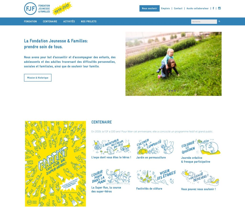 fjfnet.ch | Fondation Jeunesse & Famille (FJF) | site web | collaboration Studio KO