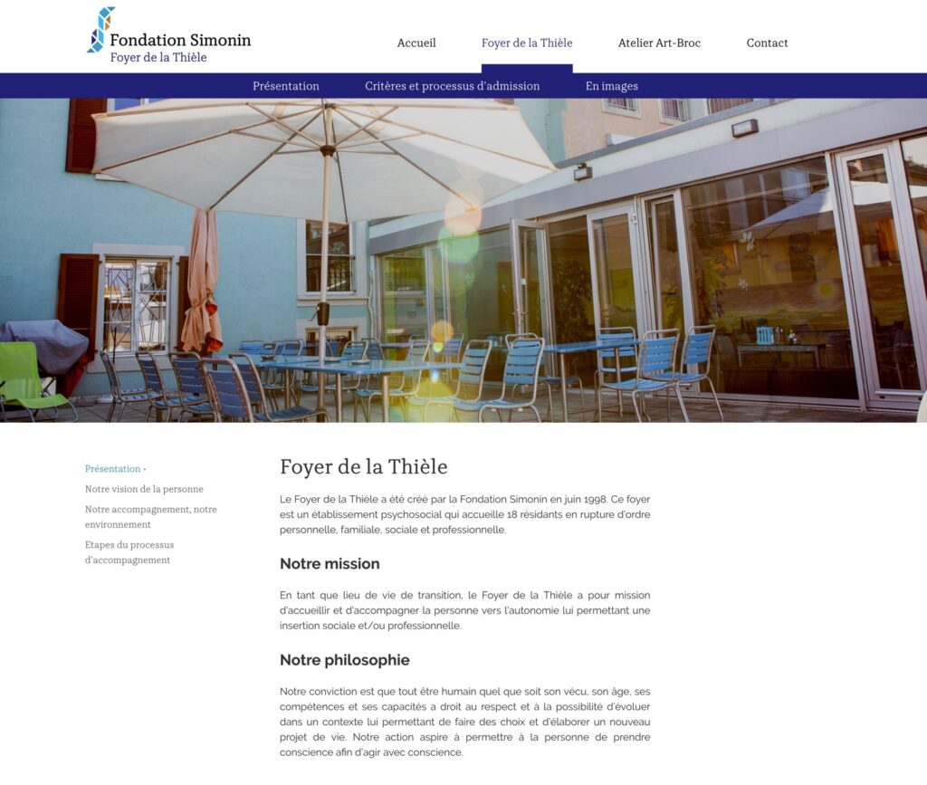 fondation-simonin.ch | Fondation Simonin | gestion du projet + site web | photo Olivier Jeannin, logo Hawaii Interactive