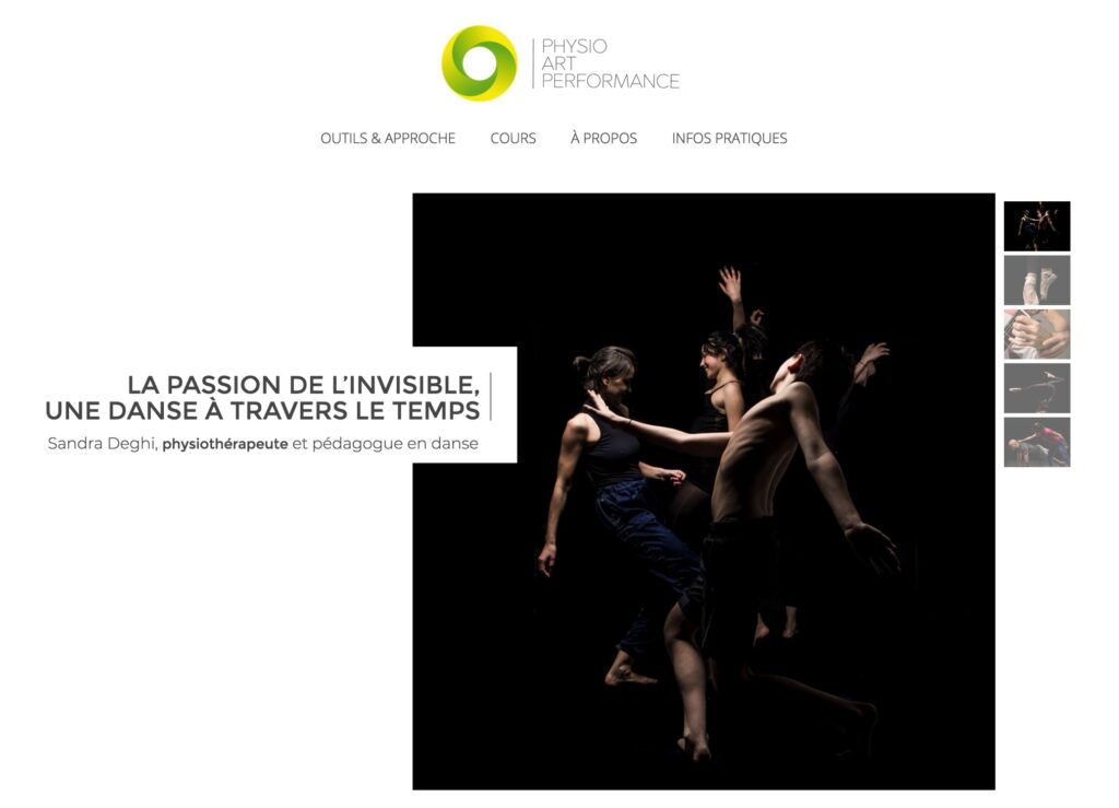 physioartperformance.ch | Sandra Deghi - physiothérapeute | webdesign: sirup | photo: oh photo